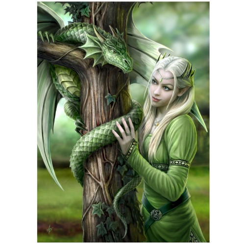AN27 Kindred Spirits Anne Stokes Greetings card