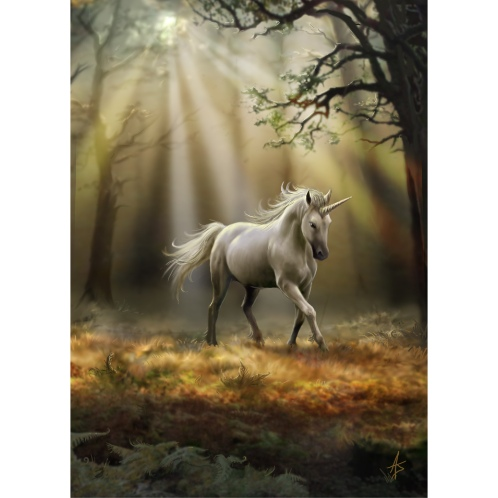 AN30 Glimpse of a Unicorn Anne Stokes Greetings Card