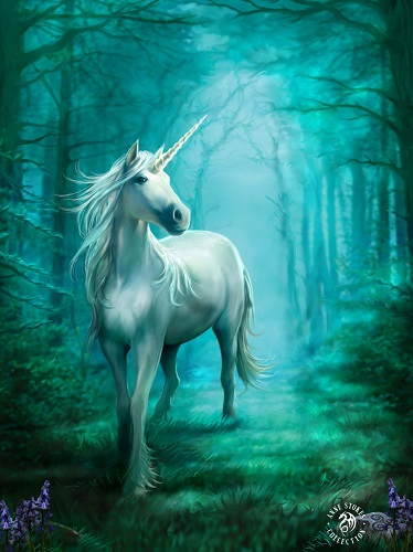 AN34 Forest Unicorn Anne Stokes Greetings Card