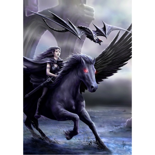 AN68 Realm of Darkness Anne Stokes Greetings Card