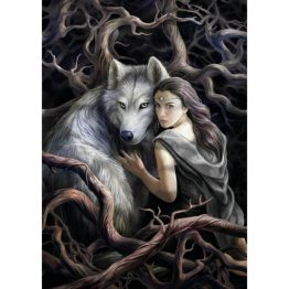 AN89 Soul Bond Anne Stokes Greetings Card