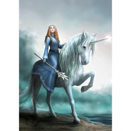 AN95 Journeys Start Anne Stokes Greetings Card