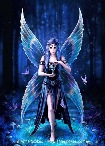 AN98 Enchantment Anne Stokes Greetings Card
