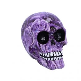 Purple Romance Skull Ornament