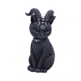 Pawzuph Horned Occult Cat Figurine Nemesis Now b5148r0