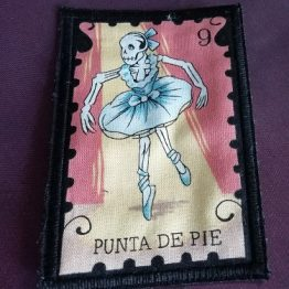 Day of the Dead Sew on Patch Handmade Gothic