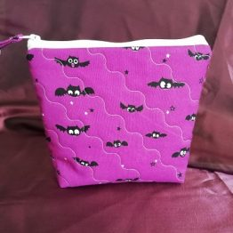 Gothic Make Up Bag Handmade Cute Bats