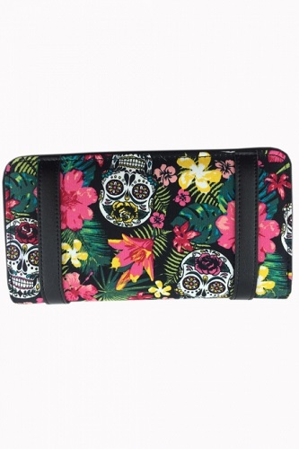HIBISCUS WALLET Skull Purse Banned Apparel