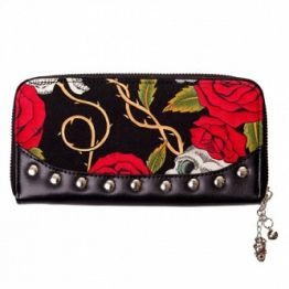 Skulls and Roses Purse Banned Apparel