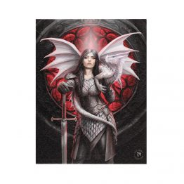 AS_18538-19x25cm Valour Canvas Plaque by Anne Stokes