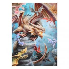 AS_28538-50x70cm Dragon Clan Canvas Plaque by Anne Stokes