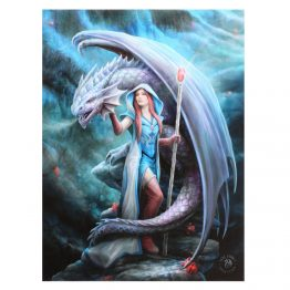 This captivating canvas features the Dragon Mage art design by Anne Stokes.