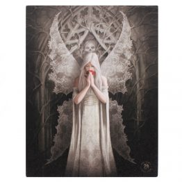 19x25cm Only Love Remains Canvas Plaque by Anne Stokes