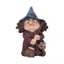 d5050r0 Toil Small Witch and Broomstick Figurine