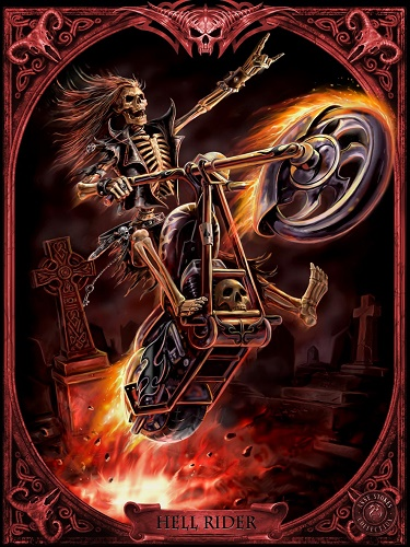 ASC26 Hell Rider Postcard Anne Stokes