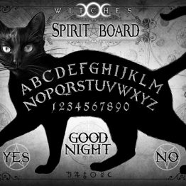ALCP28 Black Cat Spirit Board Postcard Alchemy England