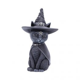 Purrah Witches Hat Occult Cat Figurine b5238s0