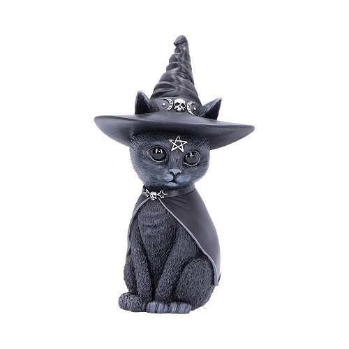 Purrah Witches Hat Occult Cat Figurine b5238s0
