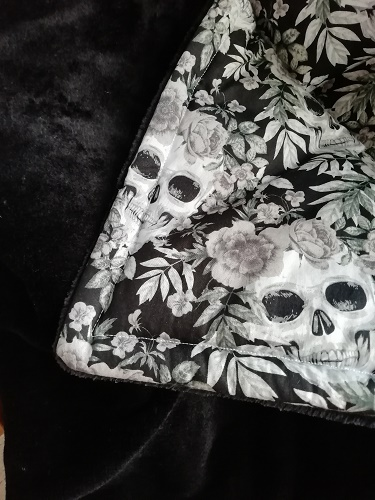 Skull and Roses Handmade Throw