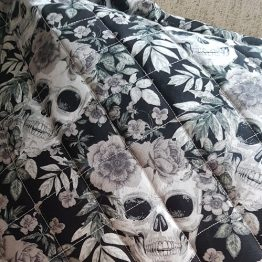 Handmade Skull and Roses Cushion