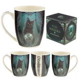 Lisa Parker Rise of the Witches Cat Porcelain Mug