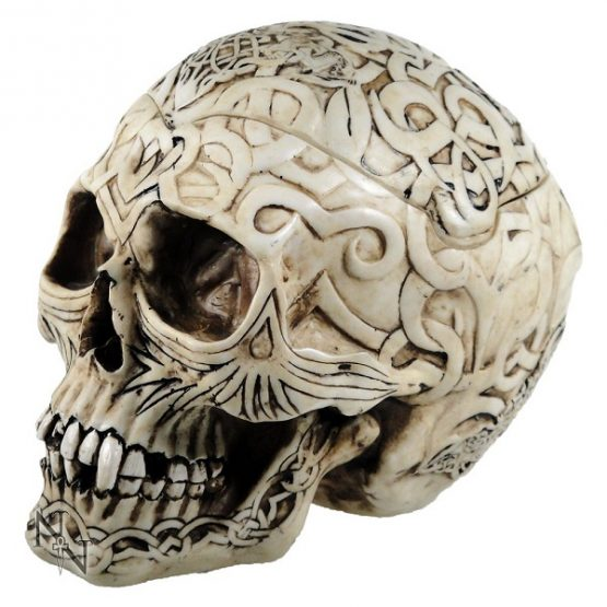 Skull Box Engraved With Celtic Patterns