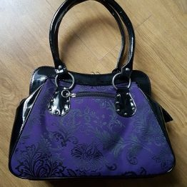 Gothic Cross Handbag Purple