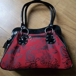 Gothic Cross Handbag Red