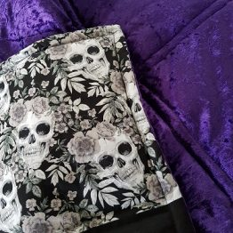Skulls and Roses Quilted Blanket
