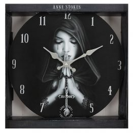 Gothic Prayer Wall Clock by Anne Stokes
