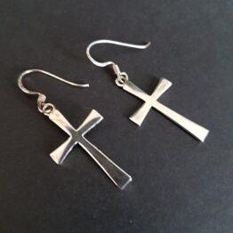 Cross Earrings Sterling Silver