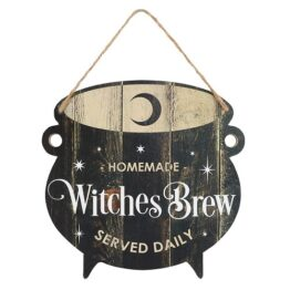 HA_29030 Witches Brew Cauldron Hanging Sign