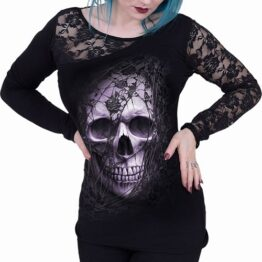 Lace Skull Top Spiral D095F439