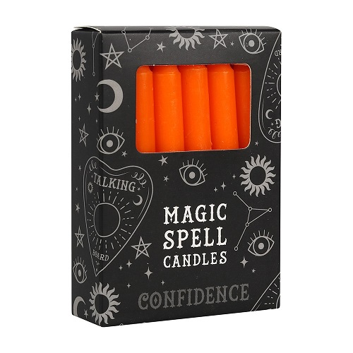 Orange Confidence Spell Candles FI_15628