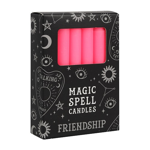 Pink Friendship Spell Candles FI_15928